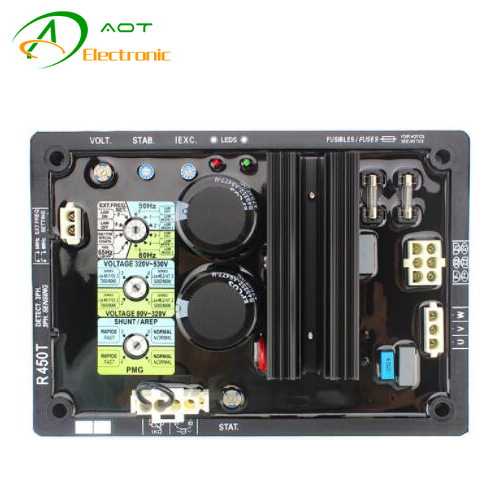 China Digital AC Brushless Generator Voltage Regulator AVR R450T