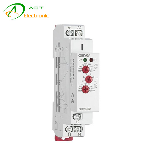GRV8-02 Monitoring Relay,Single-phase Voltage Control Monitoring Relay Over Voltage Protection GRV8-02//D12
