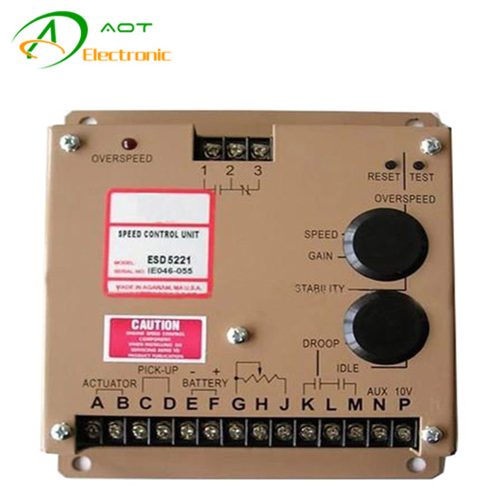 Generator automatic governor ESD5221 diesel engine speed control unit