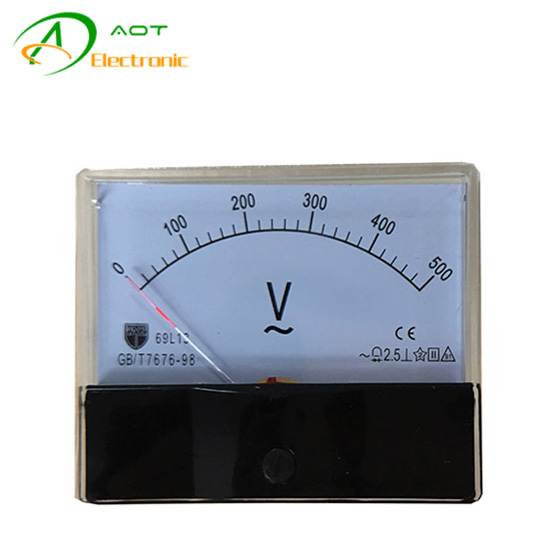Generator Pointer Analog Voltage Meter DC 0-500V Voltmeter 69L13